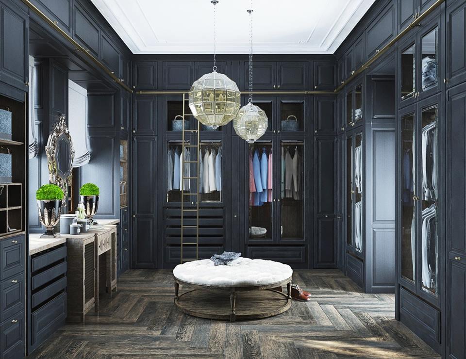 Thiết kế phòng thay đồ theo phong cách cổ điển