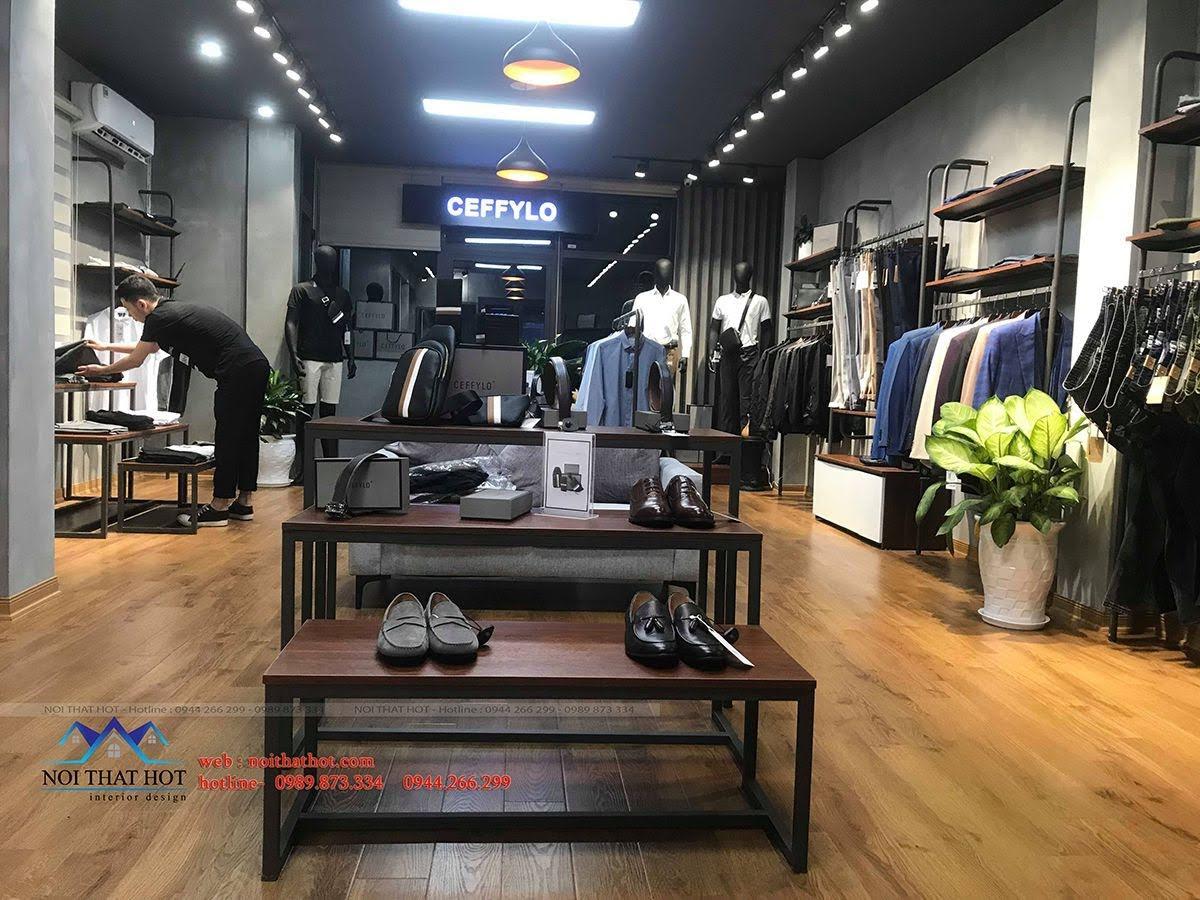 thiết kế thi công shop thời trang nam polido 11