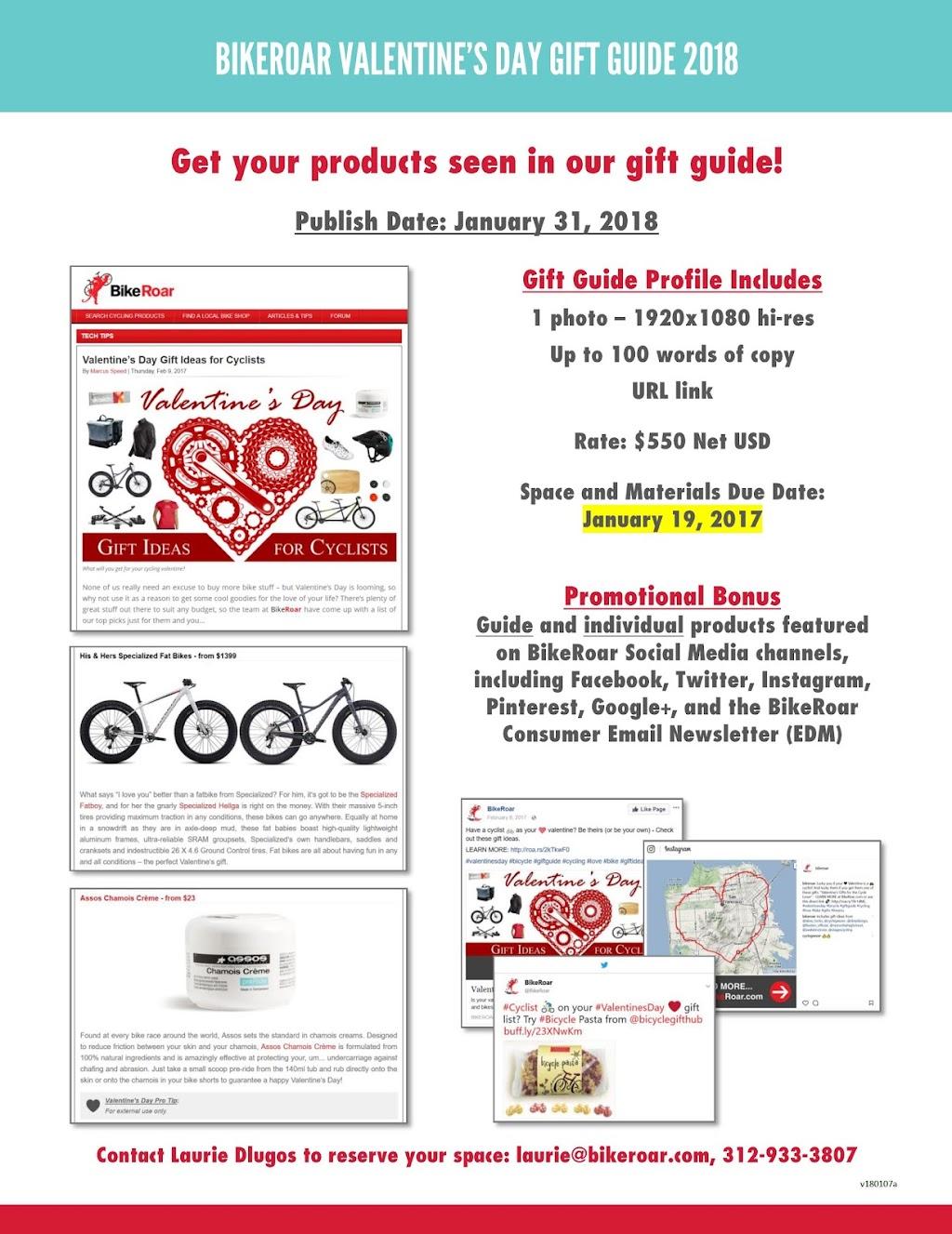 BikeRoar Valentine's Day Gift Guide 2018