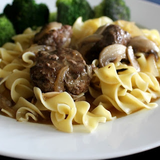 Salisbury Steak Meatballs with a Mushroom Gravy