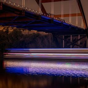 Boat' light trail by Austin Neelankavil - Buildings & Architecture Bridges & Suspended Structures ( light trail )