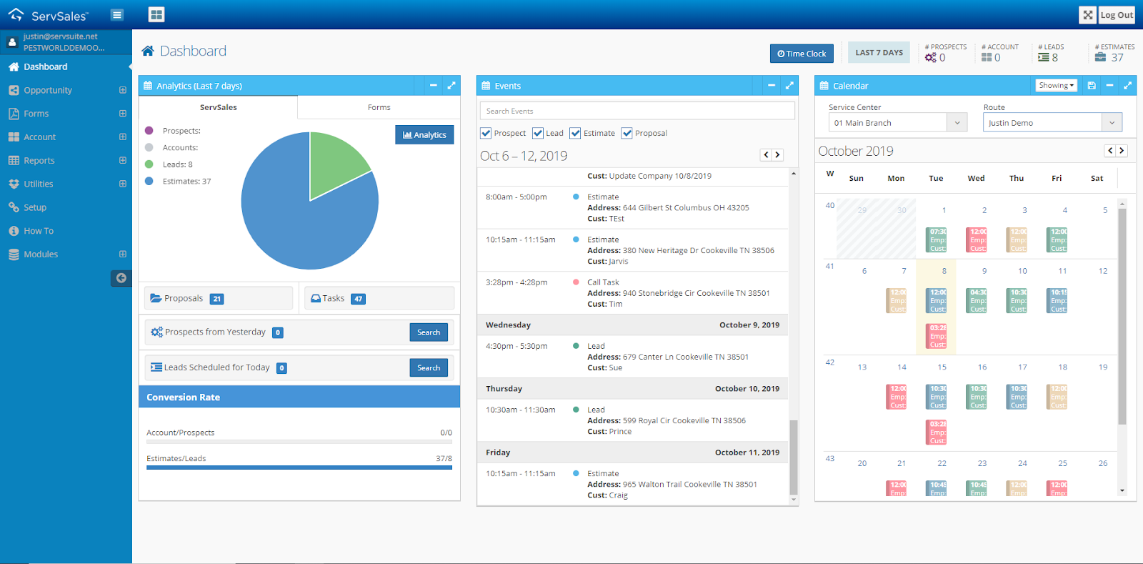 servsales sales management software