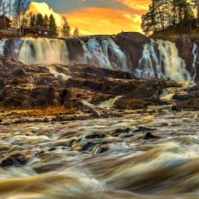 Haugfoss Waterfall by Johannes Mikkelsen - Landscapes Waterscapes ( water, waterscape, d800, art, waterfall, artistic, nikon,  )