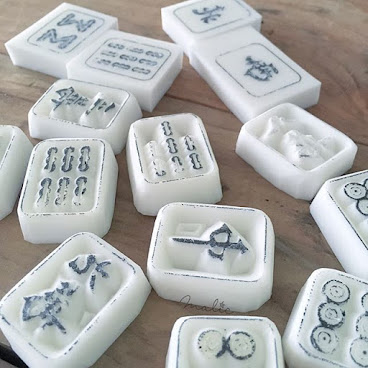 Majohg rubber stamp