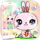 Colorful Cartoon Bunny Theme icon
