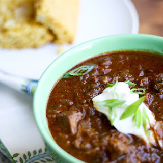 Slow Cooker Steak Chili.