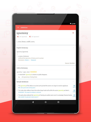 U Dictionary (English offline) app (apk) free download for Android/PC/Windows screenshot