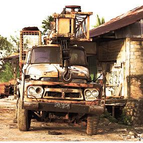 sunset industrialization by Irfan Andariska - Transportation Other