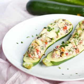 Greek Veggie Zucchini Boats Recipe
