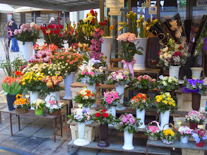 Photo: Our last picture is of the outdoor flower market that we saw on our way back to the hotel.  We flew home the next day.