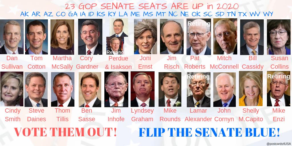 List Of Senators Up For Reelection In 2020.23 Gop Senate Seats Democrats Can Flip In 2020 Demcast