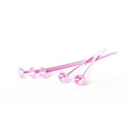 Ballongpinnar 10-pack - rosa