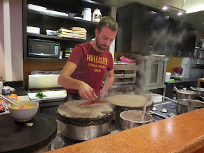Photo: Making crepes