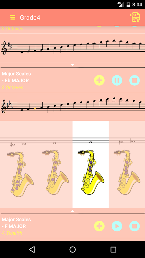Saxophone Scales All In 1 (G4)- screenshot