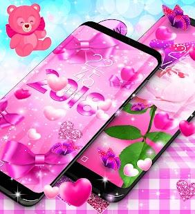 2018 lovely pink live wallpaper - náhled
