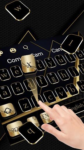 golden black business keyboard theme screenshot 1