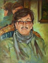 Photo: Portret autorstwa genialnego malarza, niestety już nieżyjącego marka Chmielewskiego.