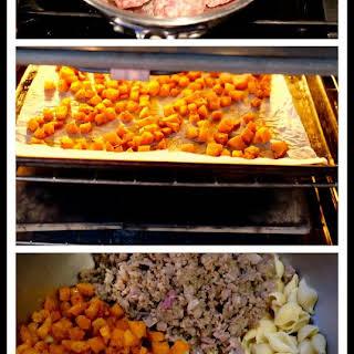 Easy Butternut Squash & Burrata Pasta.