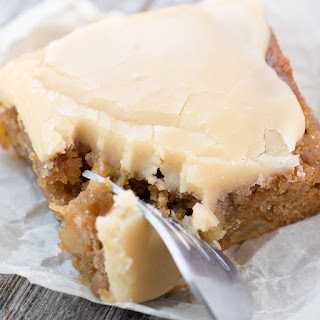 Maple Frosted Apple Blondies Recipe