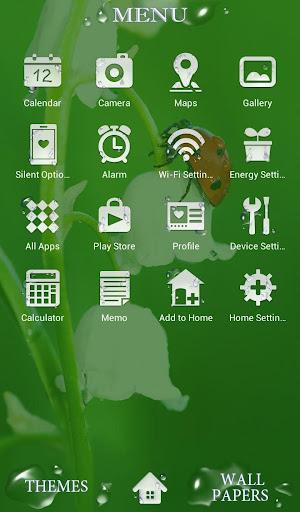 Flower Theme Ladybug Flower 1.0.0 Windows u7528 2