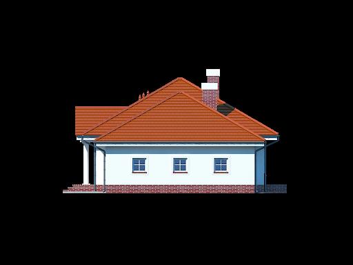 Zadębie średnie z garażem - Elewacja prawa