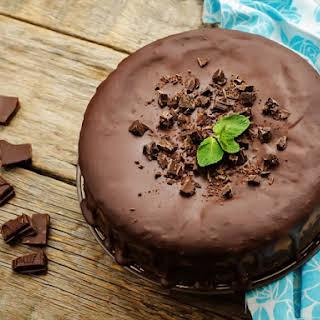 Jack Daniel's Upside Down Double Chocolate Cheesecake.