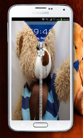 android best teddy Zipper Lock Screenshot 1
