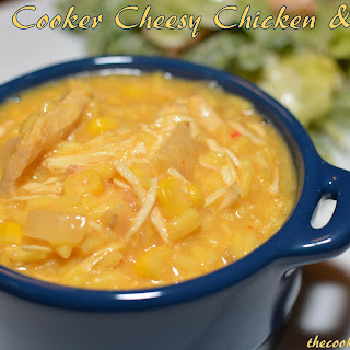 Slow Cooker Cheesy Chicken & Rice