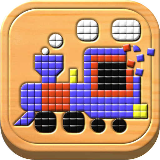 Kids Mosaic Art Shape and Color Picture Puzzles