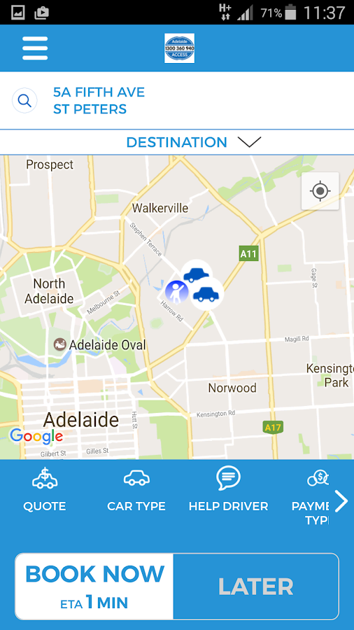 Adelaide Access Taxis- screenshot