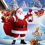 Santa Christmas Gift Delivery : Santa Claus Gifts Icon