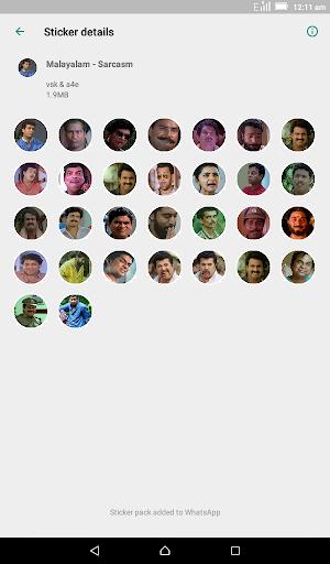 Malayalam Stickers for WhatsApp - WAStickerApps screenshot 4
