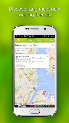 android RunGroup Screenshot 1