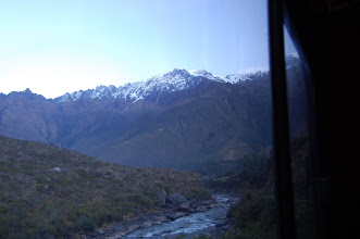 Photo: The train follows the Urubamba River valley, which soon becomes a gorge.