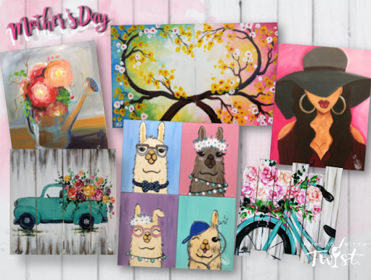 Mother's Day options for Twist at Home for Painting with a Twist