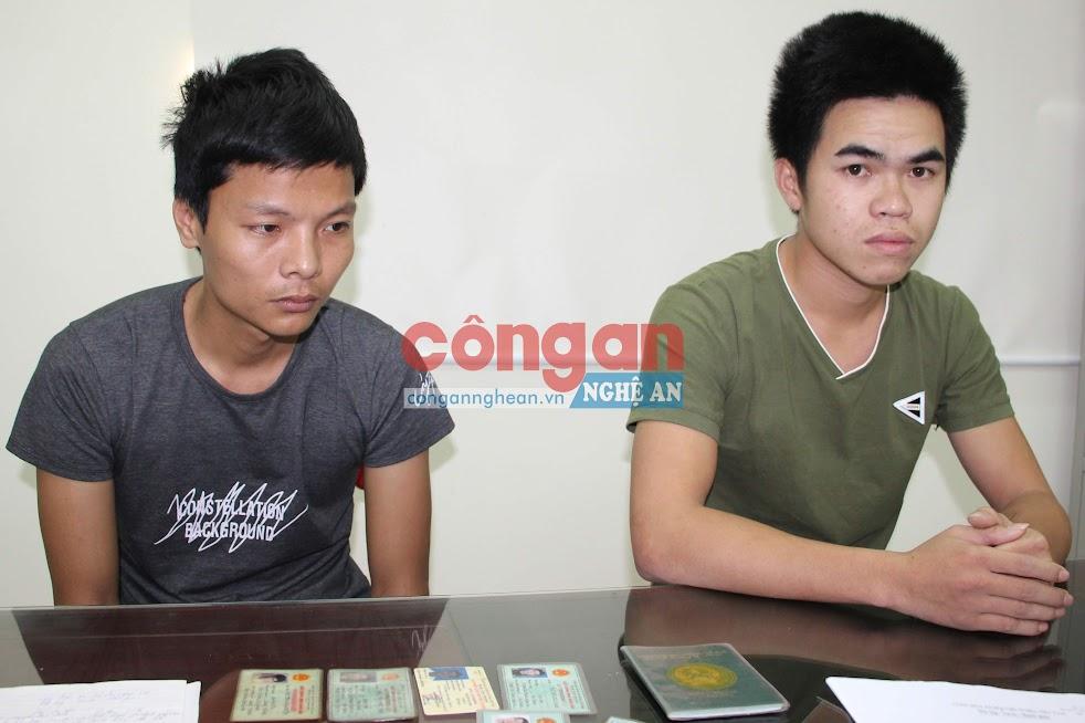 Lê Xuân Hải và Nguyễn Cảnh Quảng tại cơ quan điều tra