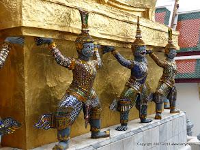 Photo: Detail of base of towere at Wat Phra Kaew