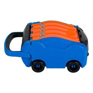 Valiza portabila de jucarie: pista cu garaj si 2 masinute