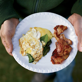 Three-Egg Omelets with Whisky Bacon.