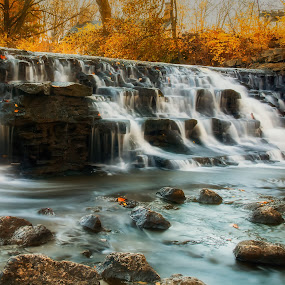 upper falls by Mike Svach - Landscapes Waterscapes ( waterfalls, waterscape, fall, long exposure, river )