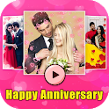 Anniversary Video Maker with Song -Slideshow Maker icon