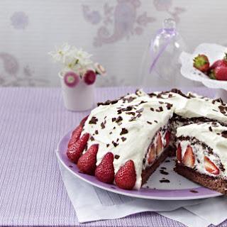 Chocolate, Strawberries and Cream Cake.