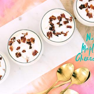 No Bake Maple Bacon Cheesecake Cups