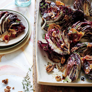 Roasted Balsamic Radicchio with Pancetta and Walnuts.