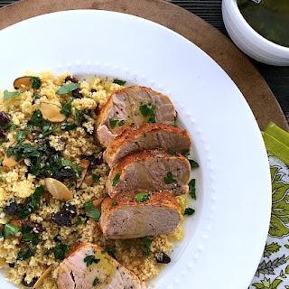 Mediterranean Pork Tenderloin with Couscous {Slow Cooker}.