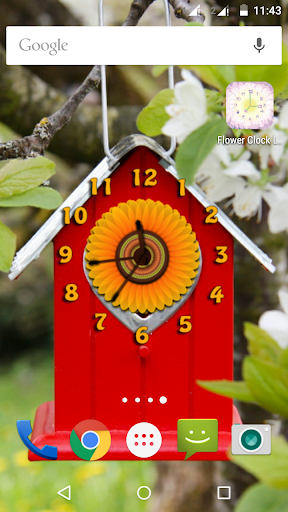 Flower Clock Live Wallpapers