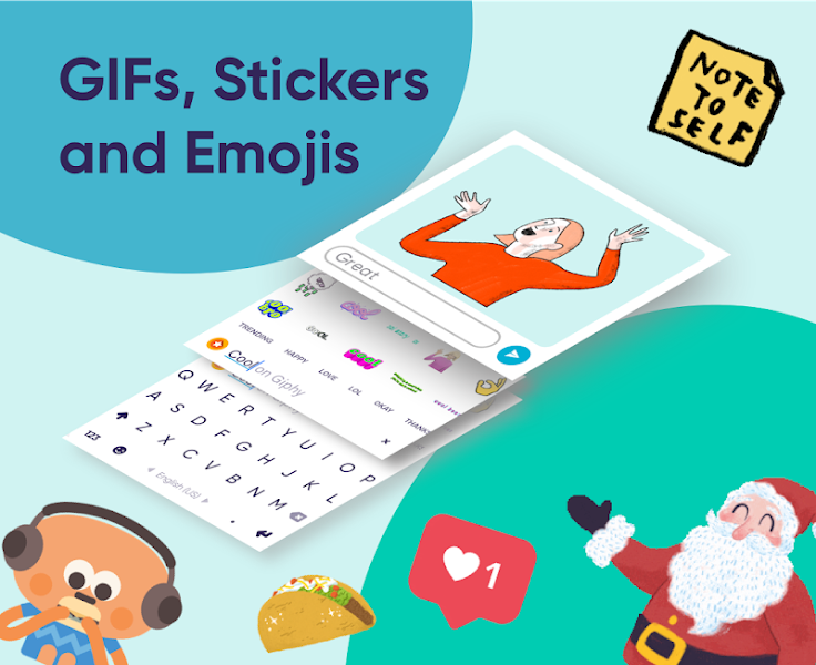 Fleksy: Fast Keyboard + Stickers, GIFs & Emojis v9.9.1 build 3100 [Final] [Premium]