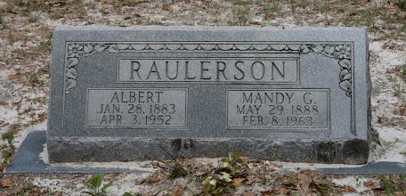 Photo: Albert S Raulerson son of William M Raulerson and America Texas Dinkins / Husband of Amanda Gainey