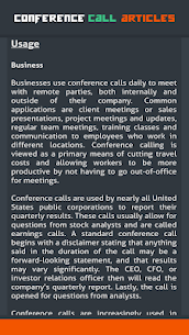 Conference Call Articles 4