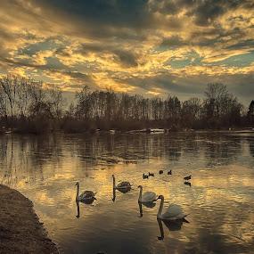 sunset mood by František Valčík - Landscapes Sunsets & Sunrises